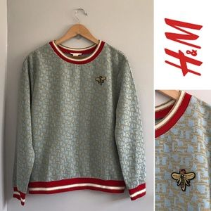 H&M Bee Embellished Pullover Sweatshirt